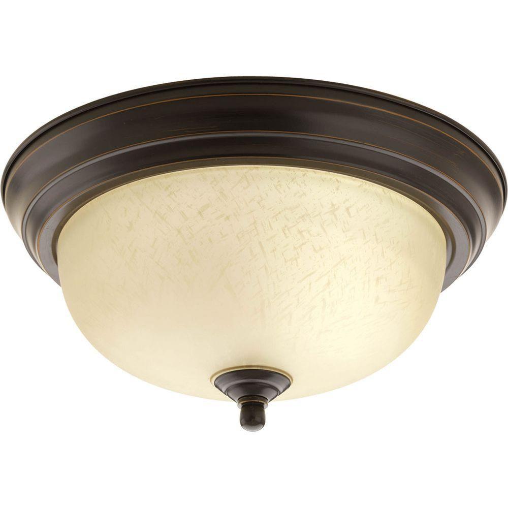 1 Light Antique Bronze Flushmount
