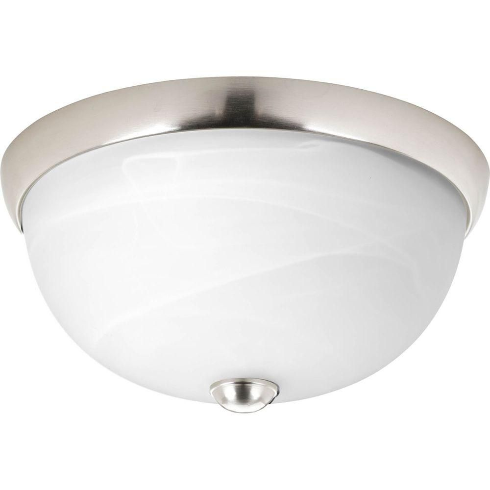 Random Collection 1 Light Brushed Nickel Flushmount