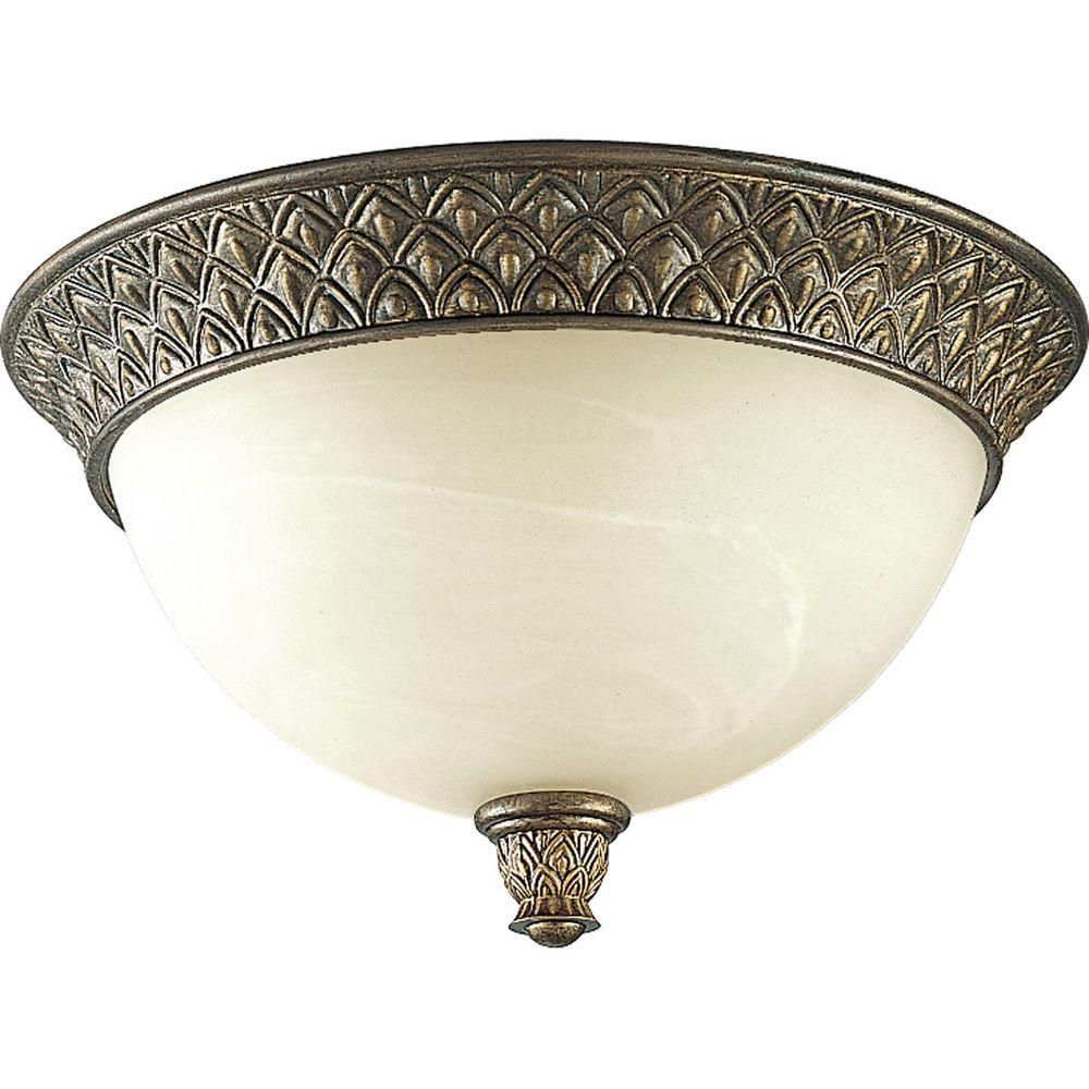 Savannah Collection 2 Light  Burnished Chestnut Flushmount