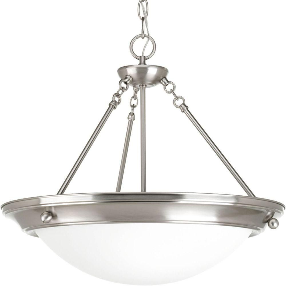 Home Depot Canada Foyer Lighting : Progress lighting eclipse collection light brushed