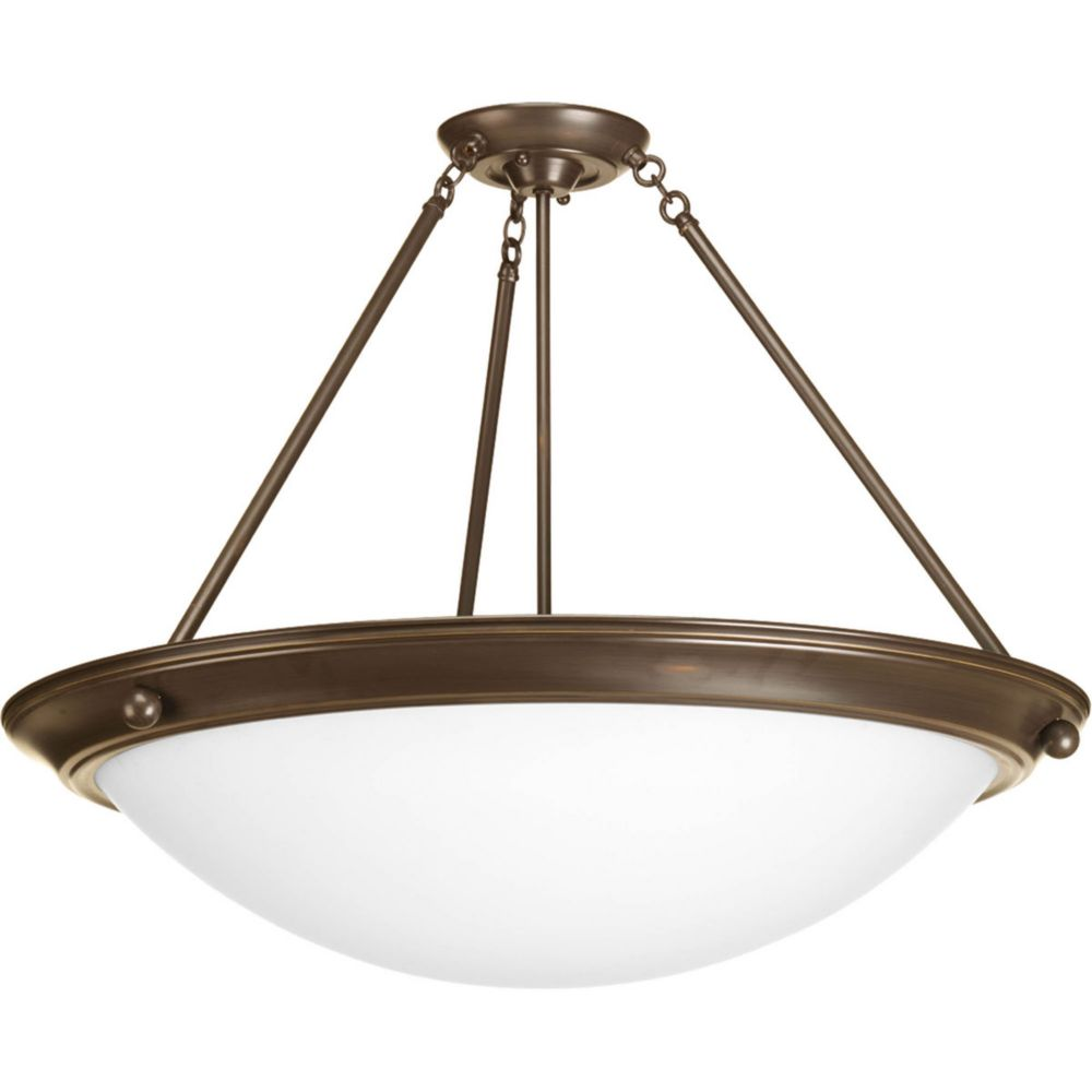 Eclipse Collection 4 Light Antique Bronze Semi-flushmount