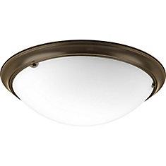 Fluorescente de Plafonnier à 4 Lumières, Collection Eclipse - fini Bronze à l'Ancienne