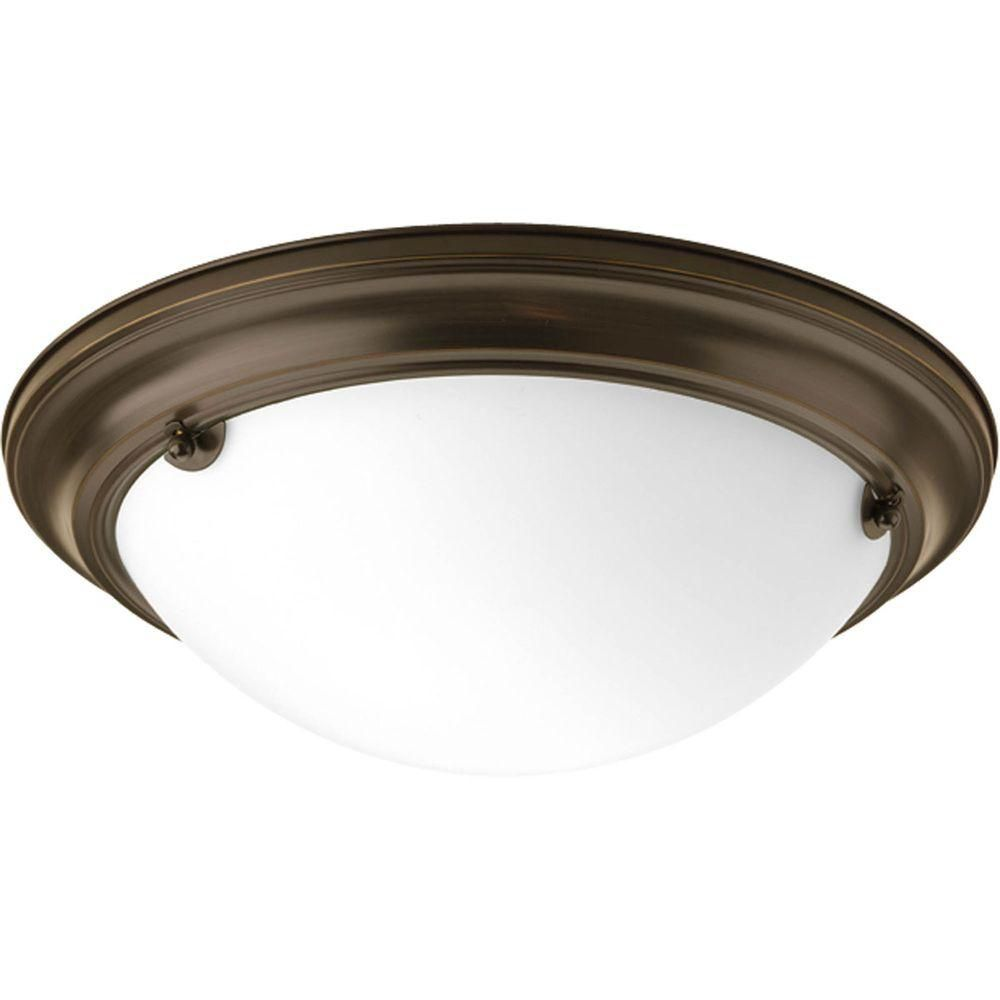 Eclipse Collection 2 Light Antique Bronze Flushmount