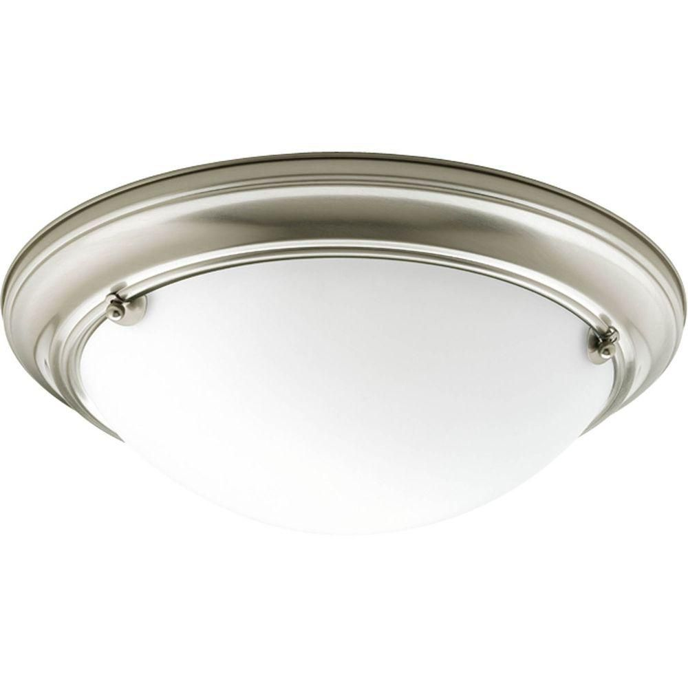 Eclipse Collection 2 Light Brushed Nickel Flushmount