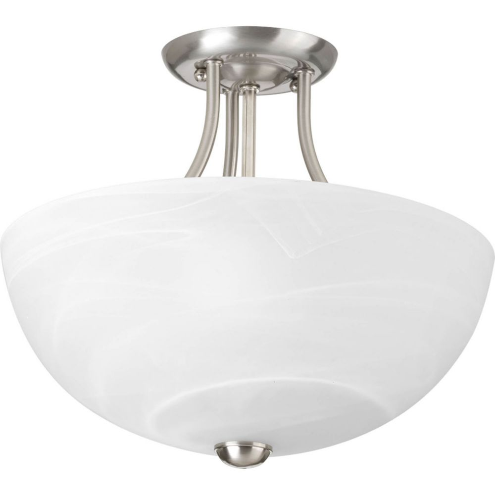 Random Collection 2 Light Brushed Nickel Semi-flushmount