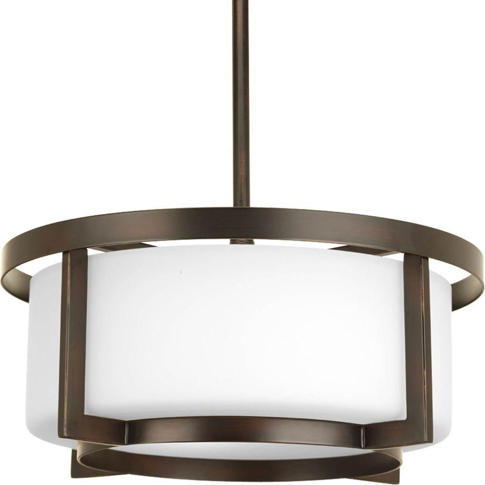 Dynamo Collection 2 Light Antique Bronze Semi-flushmount