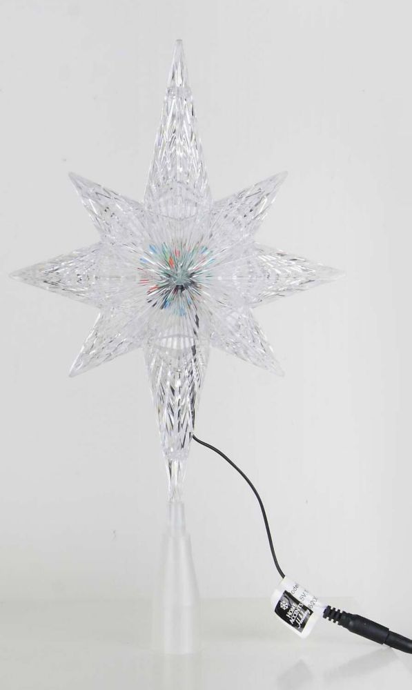 Plastic LED Bethlehem Star Tree Topper