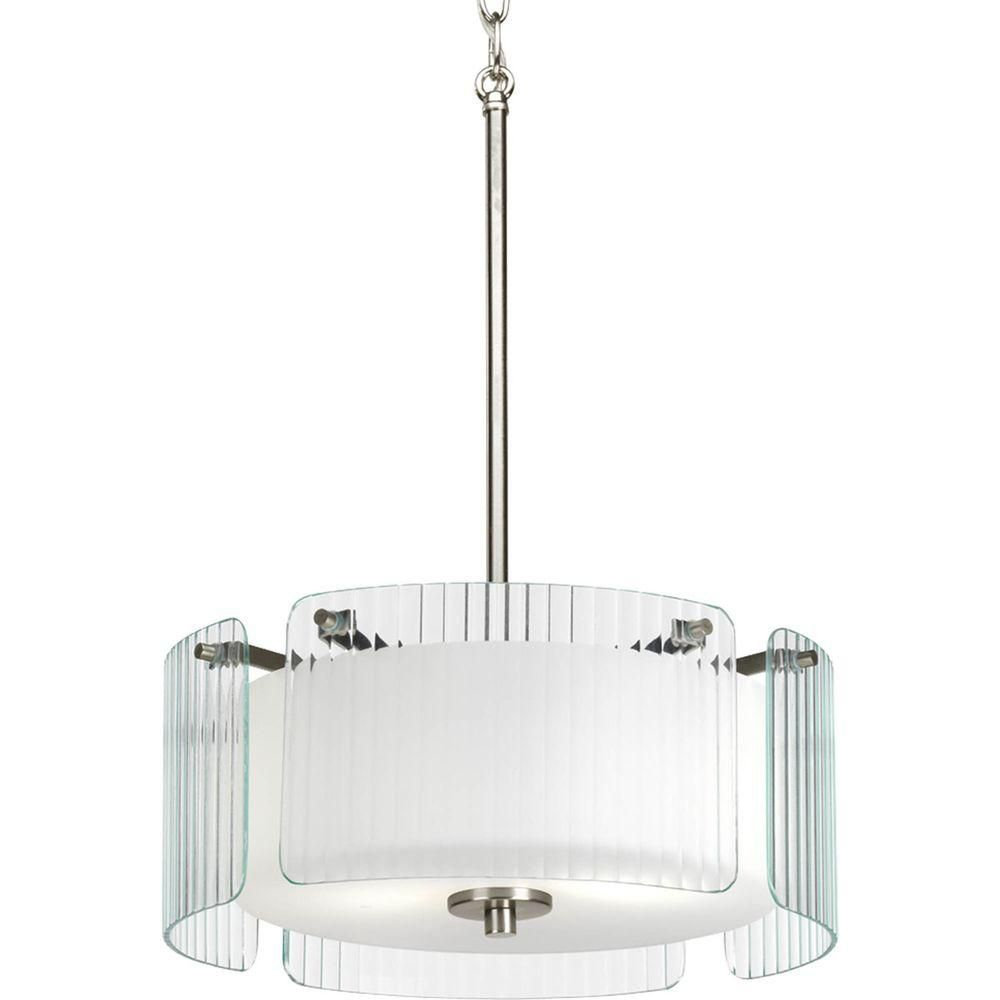 Coupe Collection 2 Light Brushed Nickel Semi-flushmount
