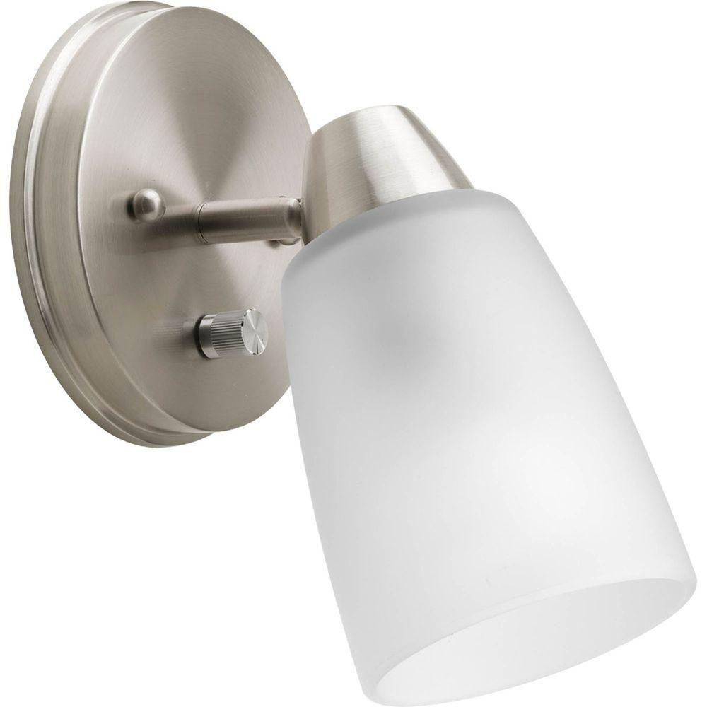 Projecteur à 1 Lumière, Collection Wisten - fini Nickel Brossé