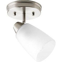 Wisten Collection 1 Light Brushed Nickel Spot Light Fixture