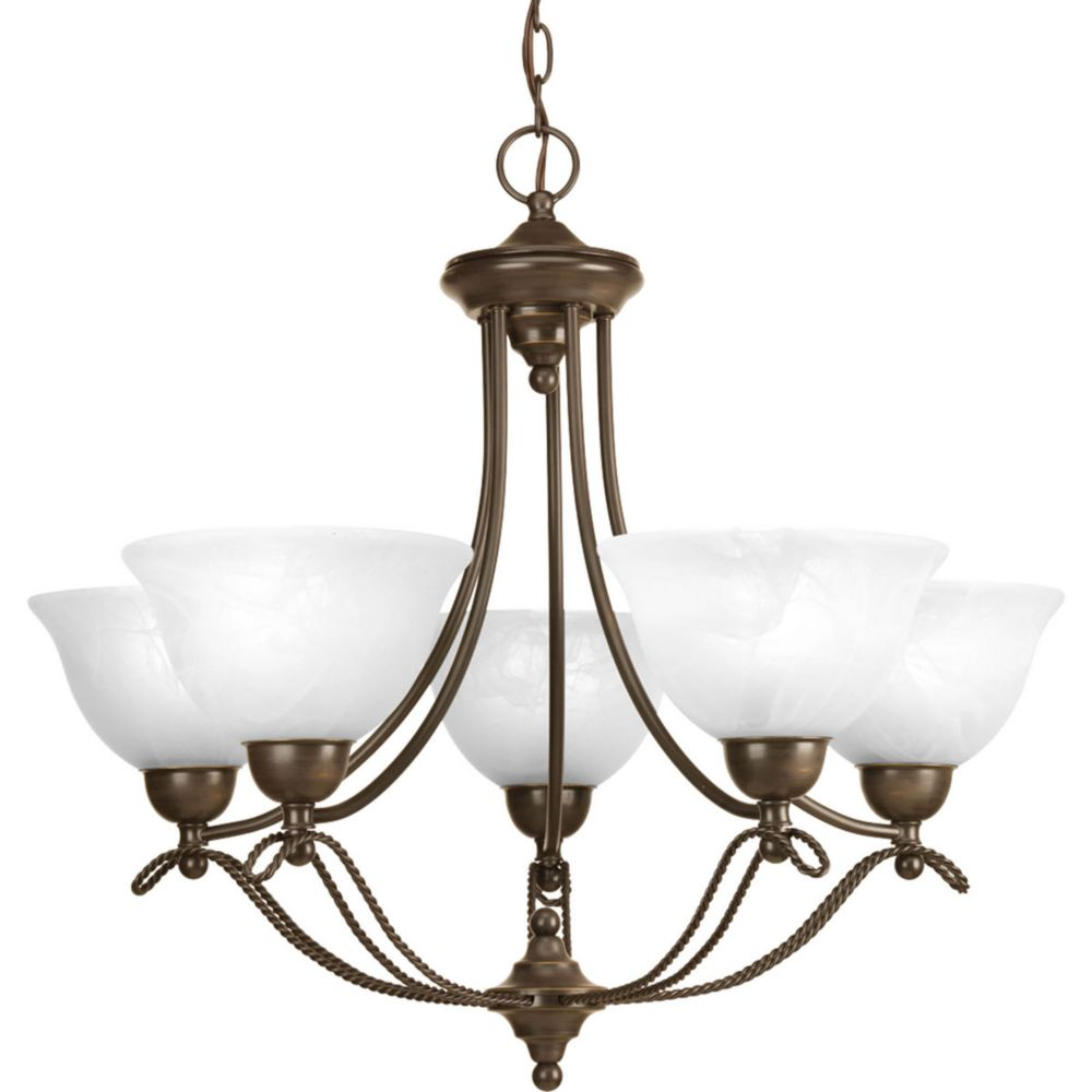 Avalon Collection 5 Light Antique Bronze Chandelier