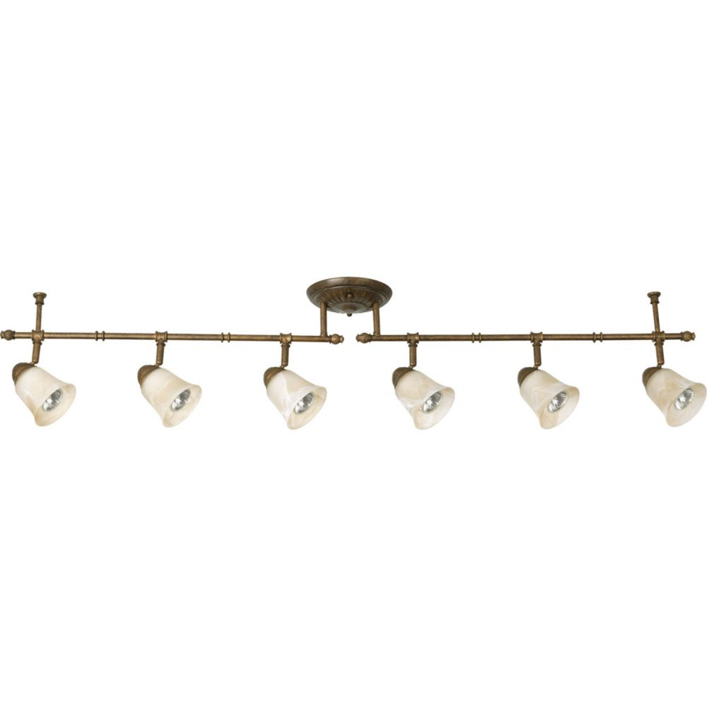 Savannah Collection 6 Light  Burnished Chestnut Spot Light Fixture