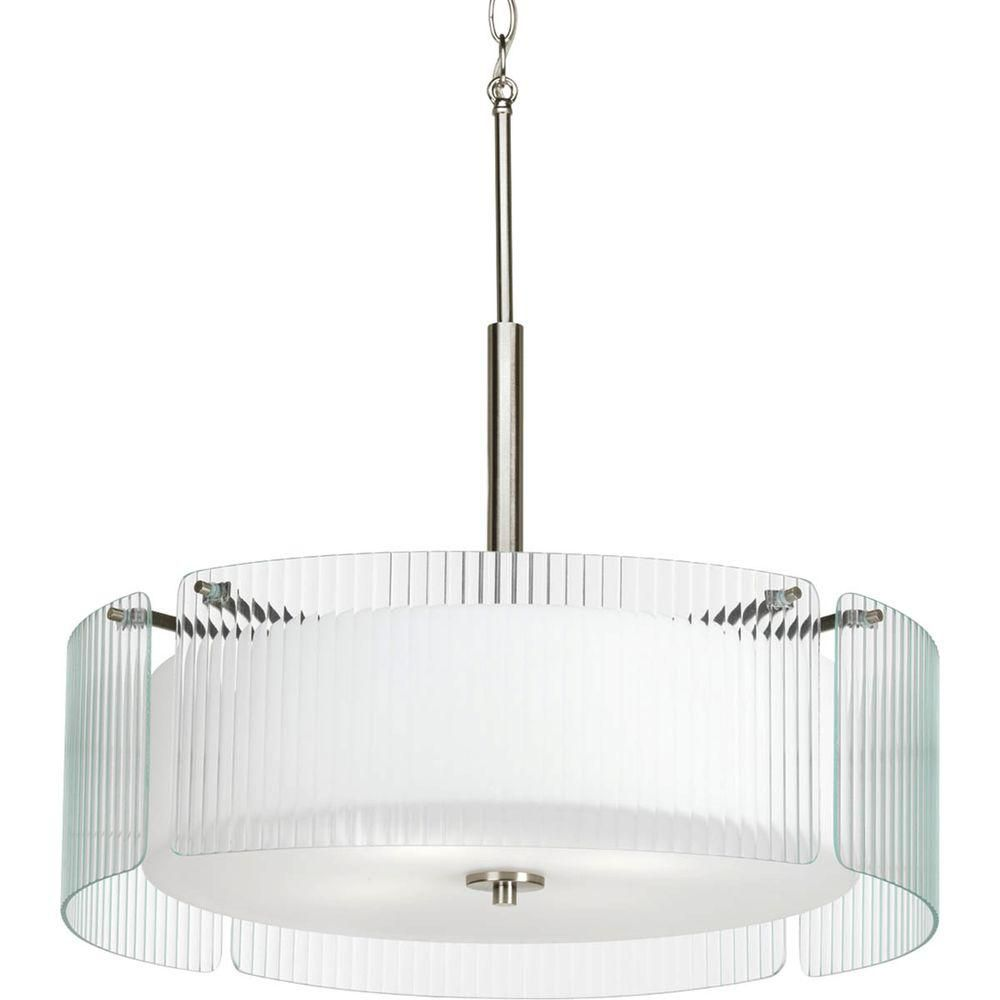 Coupe Collection 4 Light Brushed Nickel Semi-flushmount