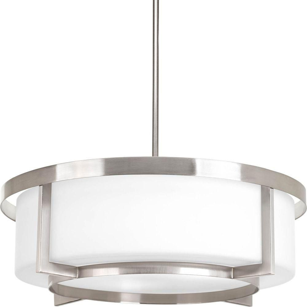 Dynamo Collection 3 Light Brushed Nickel Foyer Pendant