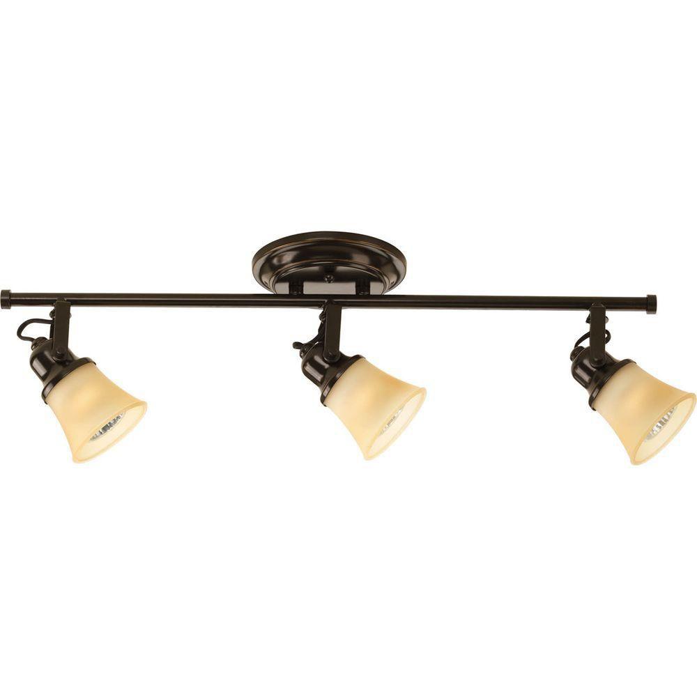 3 Light Antique Bronze Spot Light Fixture