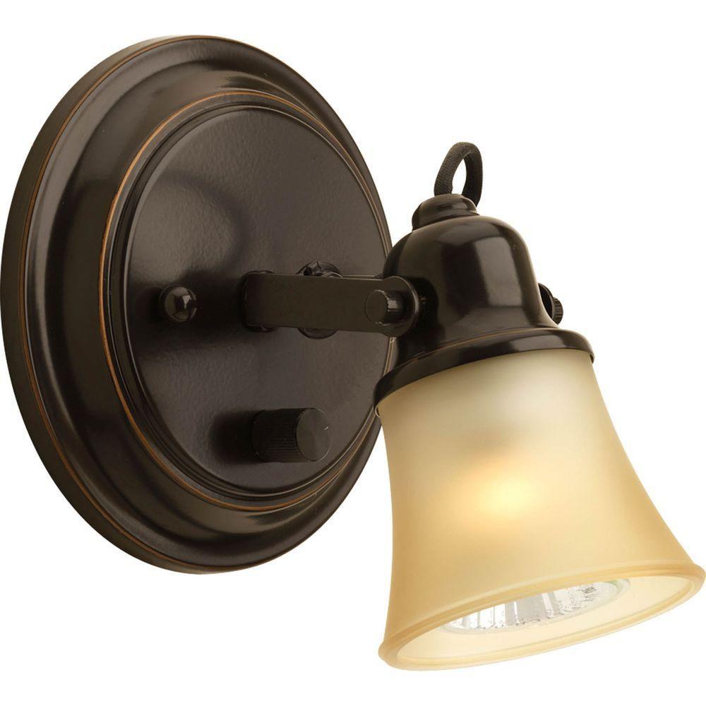 Projecteur à 1 Lumière - fini Bronze à l'Ancienne