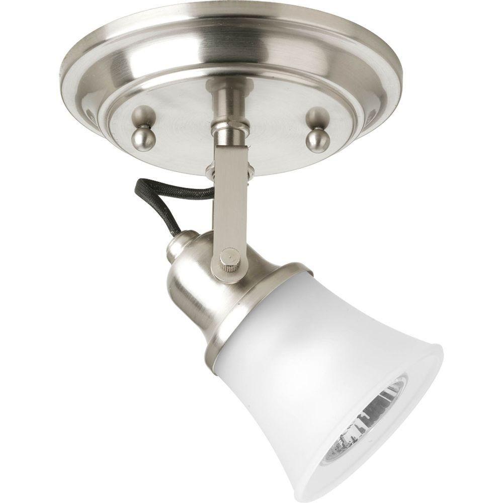 1 Light Brushed Nickel Spot Light Fixture