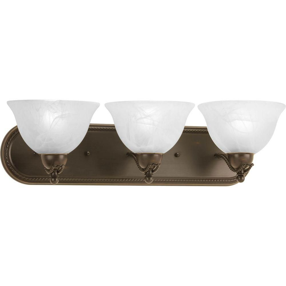 Avalon Collection 3 Light Antique Bronze Bath Light