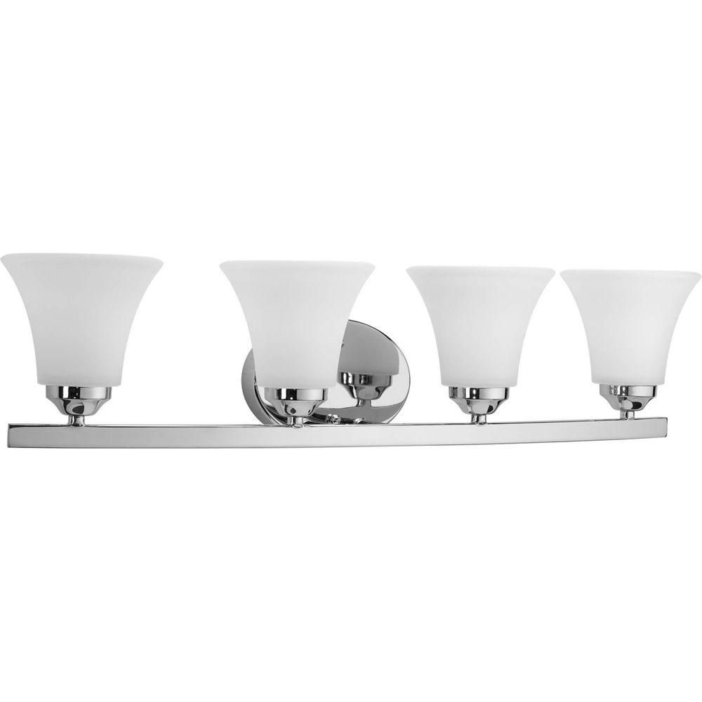 Adorn Collection 4 Light Chrome Bath Light