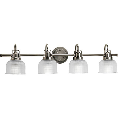 Archie Collection 4-Light Vanity Light in Antique Nickel