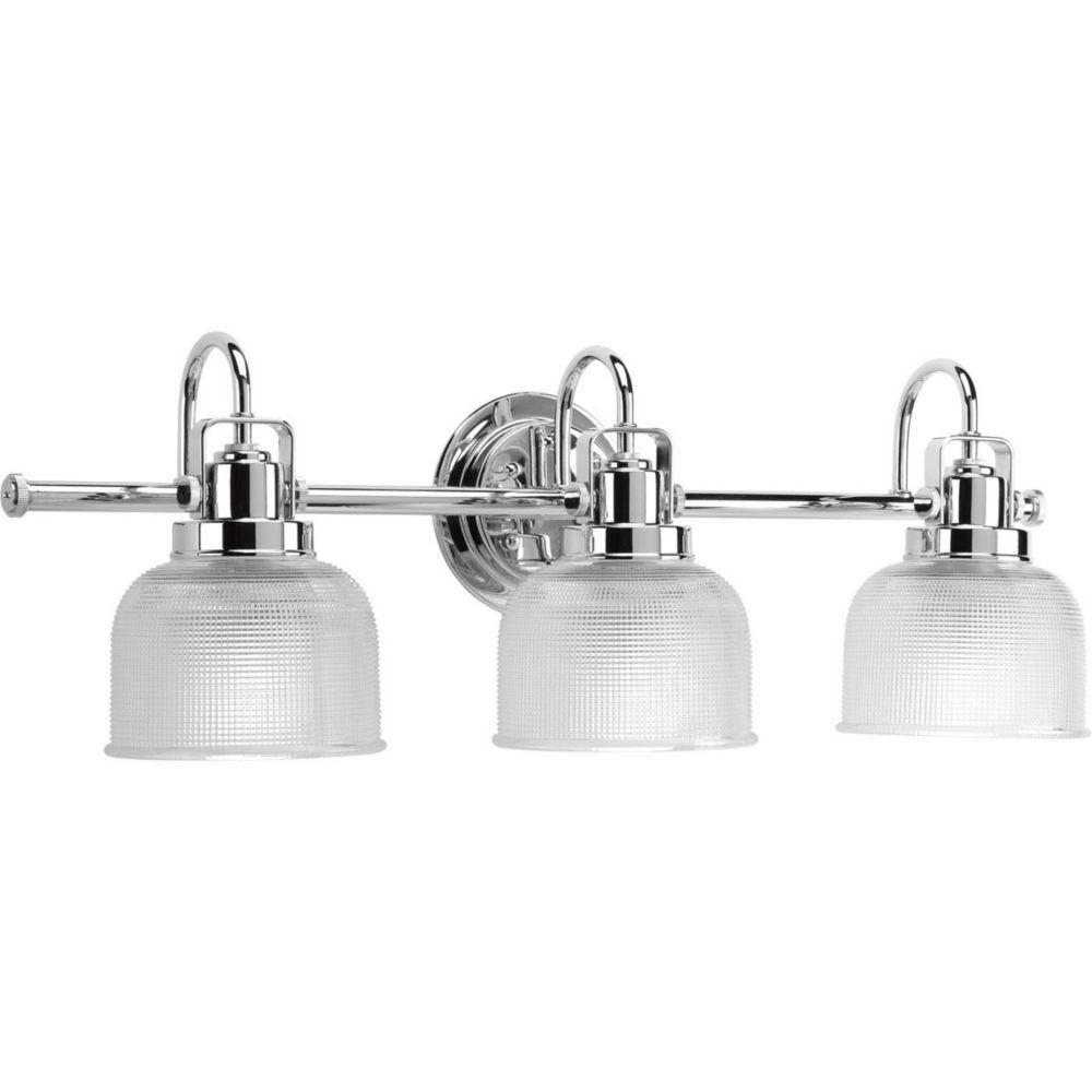 Archie Collection 3 Light Chrome Bath Light