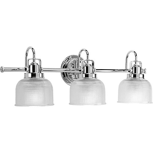 Bathroom Lights Canada progress lighting archie collection 3-light chrome bath light