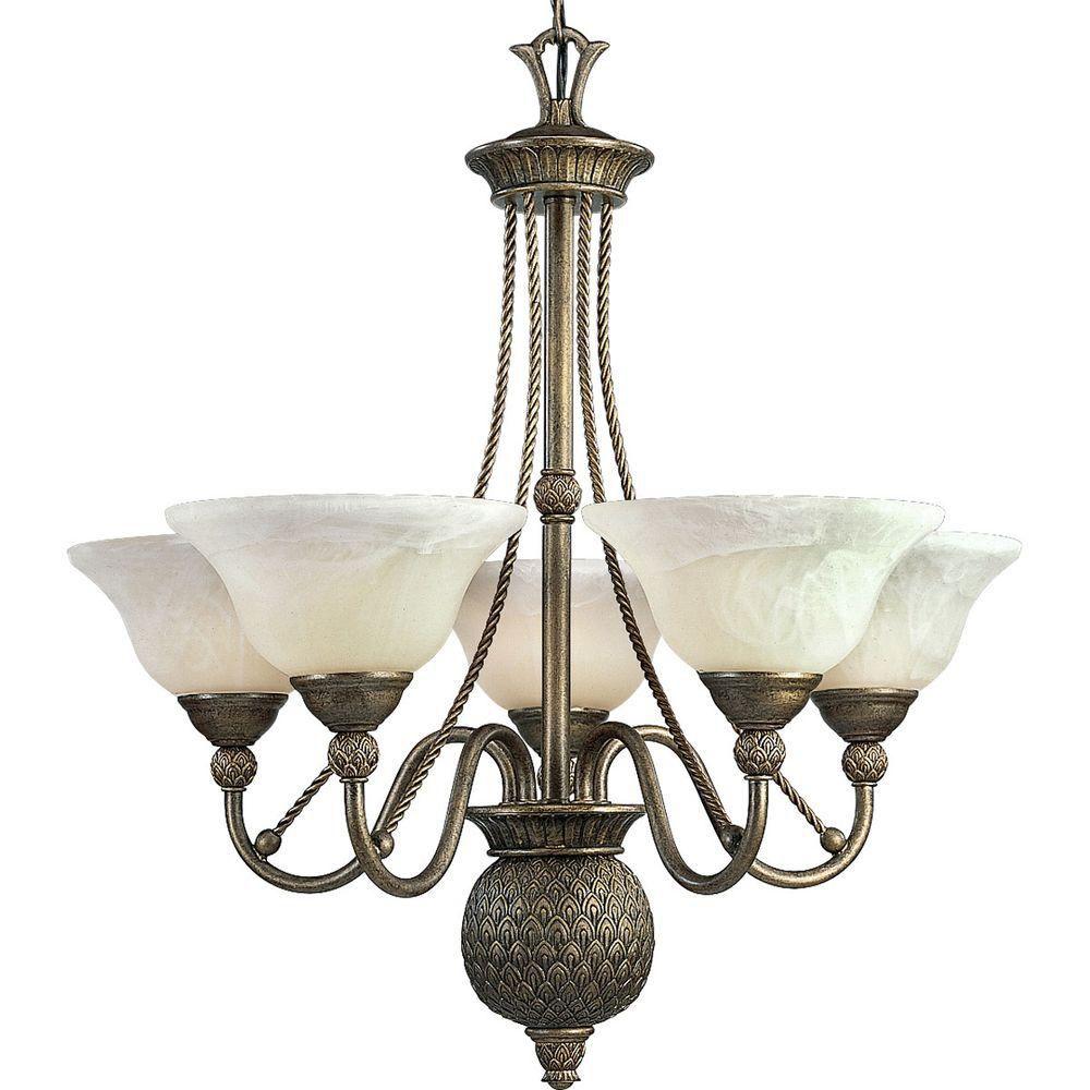 Savannah Collection 5 Light  Burnished Chestnut Chandelier