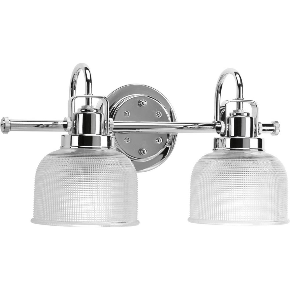 Archie Collection 2 Light Chrome Bath Light