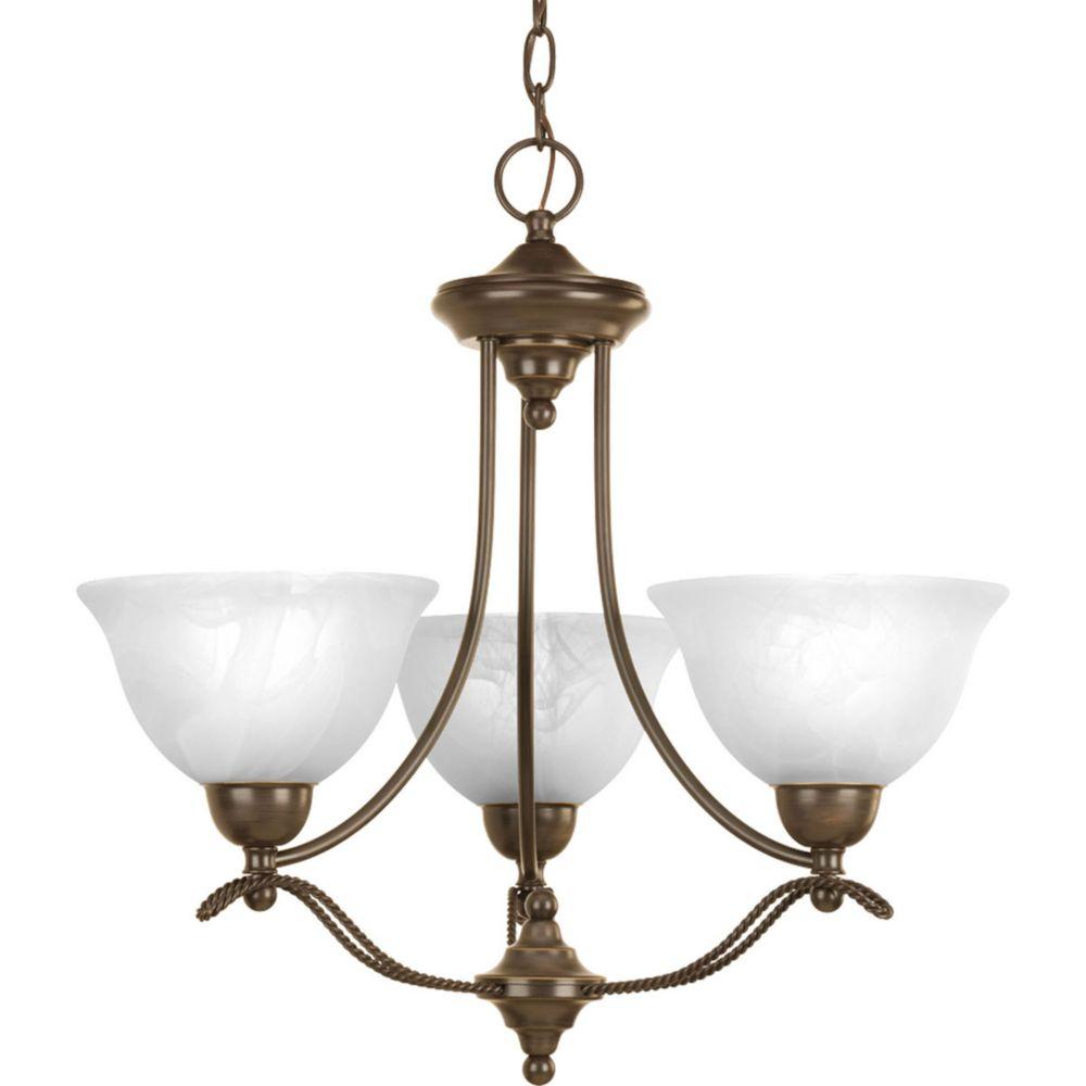 Avalon Collection 3 Light Antique Bronze Chandelier