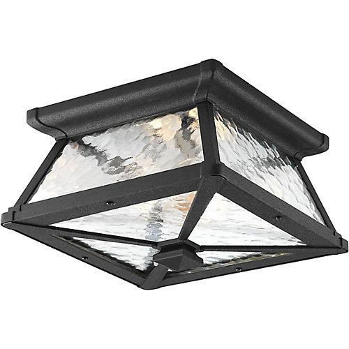 Mac Collection 2 Light Black Outdoor Flushmount