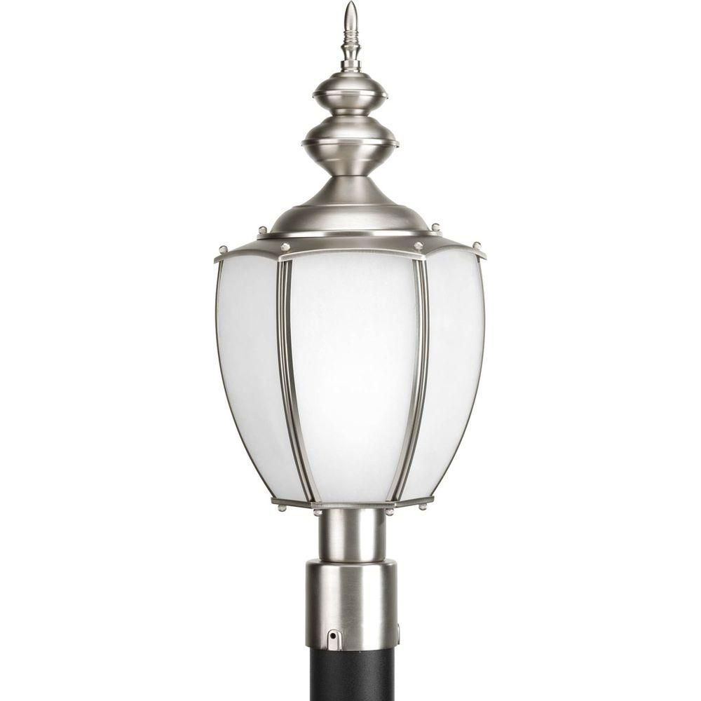 Progress Lighting Roman Coach Collection 1 Light Brushed Nickel Fluorescent Post Lantern The