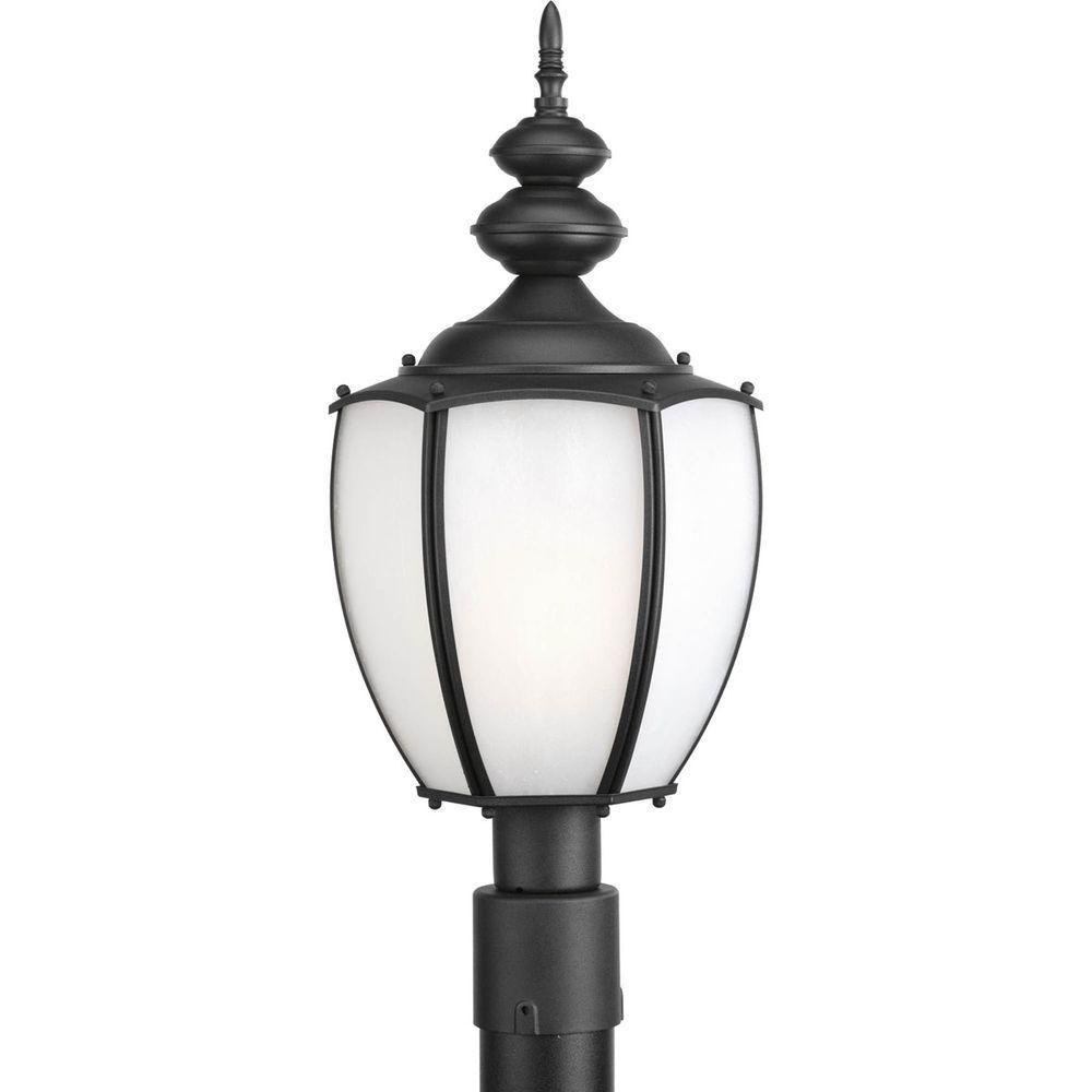 Roman Coach Collection 1 Light Black Fluorescent Post Lantern 7.85247E 11 Canada Discount