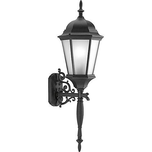 Fluorescente de Lanterne murale à 1 Lumière, Collection Welbourne - fini Noir