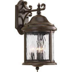 Progress Lighting Ashmore Collection 3 Light Antique Bronze Wall Lantern