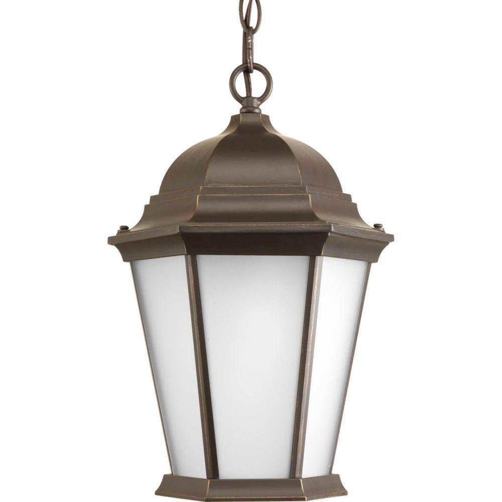 Lanterne suspendue à 1 Lumière, Collection Welbourne - fini Bronze à l'Ancienne