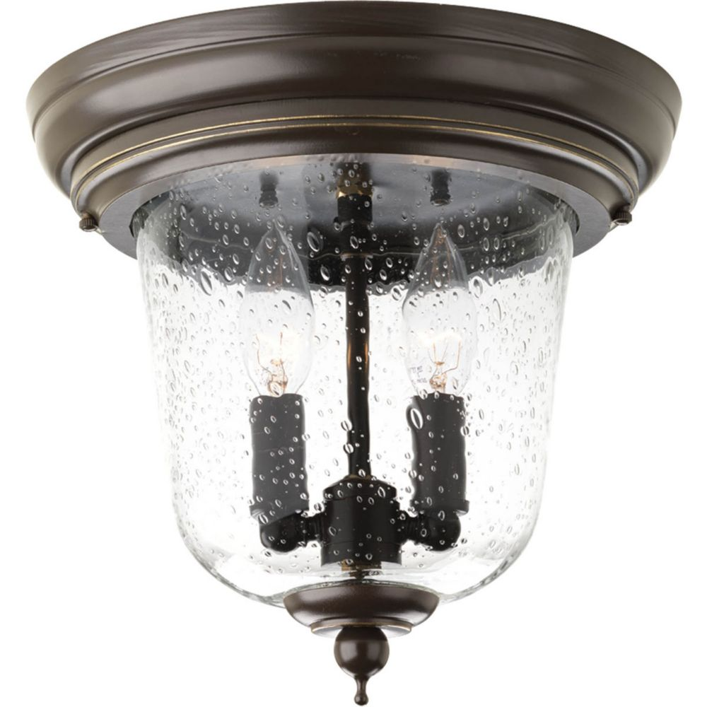 Progress Lighting Ashmore Collection 2 Light Antique Bronze Outdoor Flushmoun
