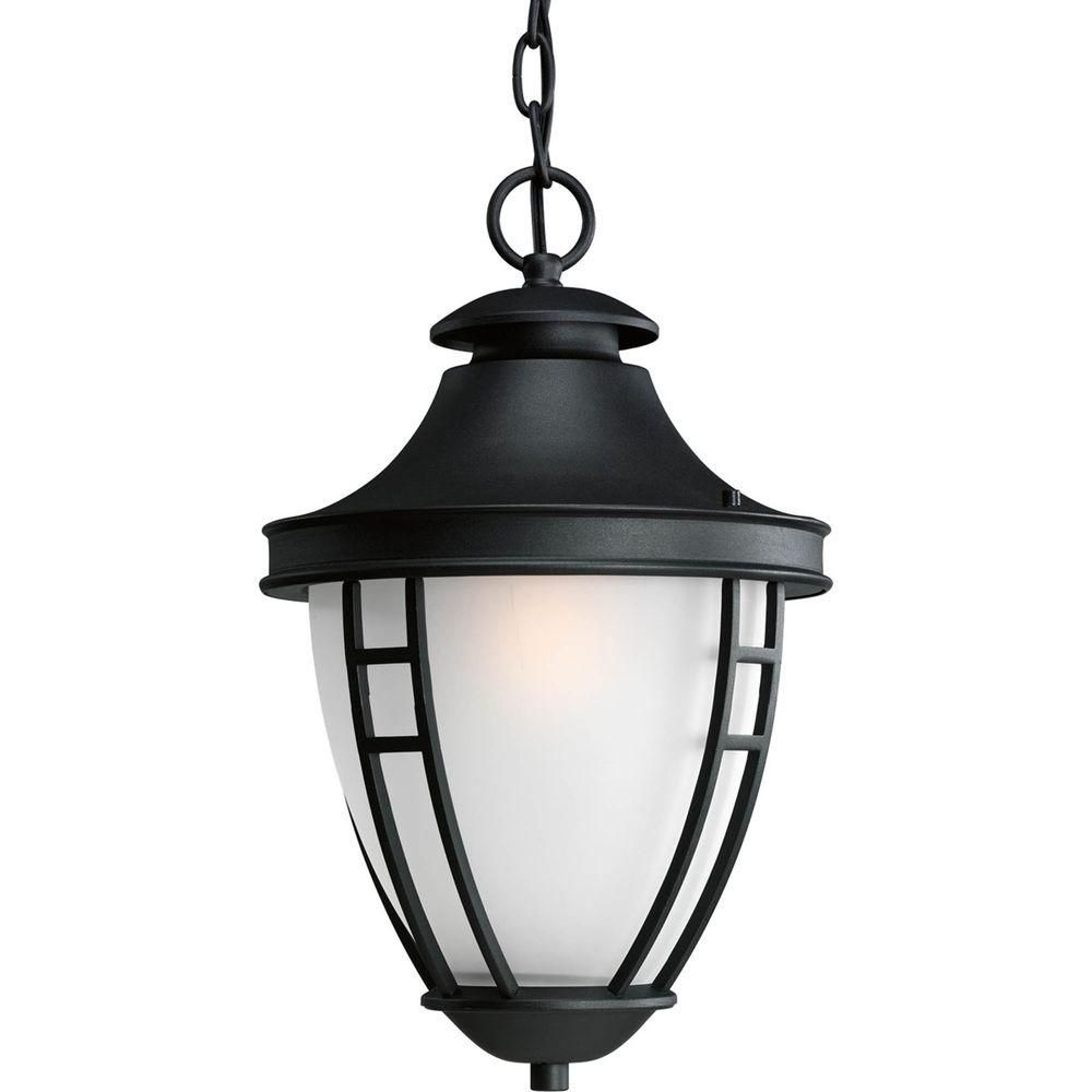 Home Decorators Collection Black Outdoor Led Hanging Light The Home Depot Canada