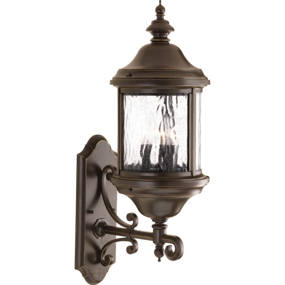 Ashmore Collection 3 Light Antique Bronze Wall Lantern