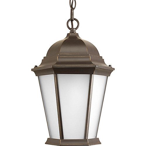 Fluorescente de Lanterne suspendue à 1 Lumière, Collection Welbourne - fini Bronze à l'Ancienne