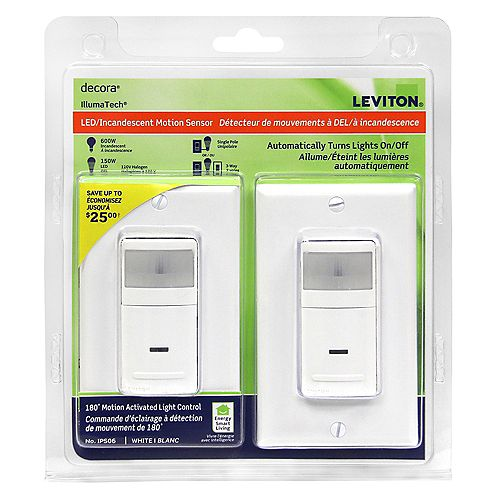 Leviton Decora Occupancy Sensor 180 White (2-Pack)