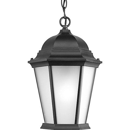 Fluorescente de Lanterne suspendue à 1 Lumière, Collection Welbourne - fini Noir
