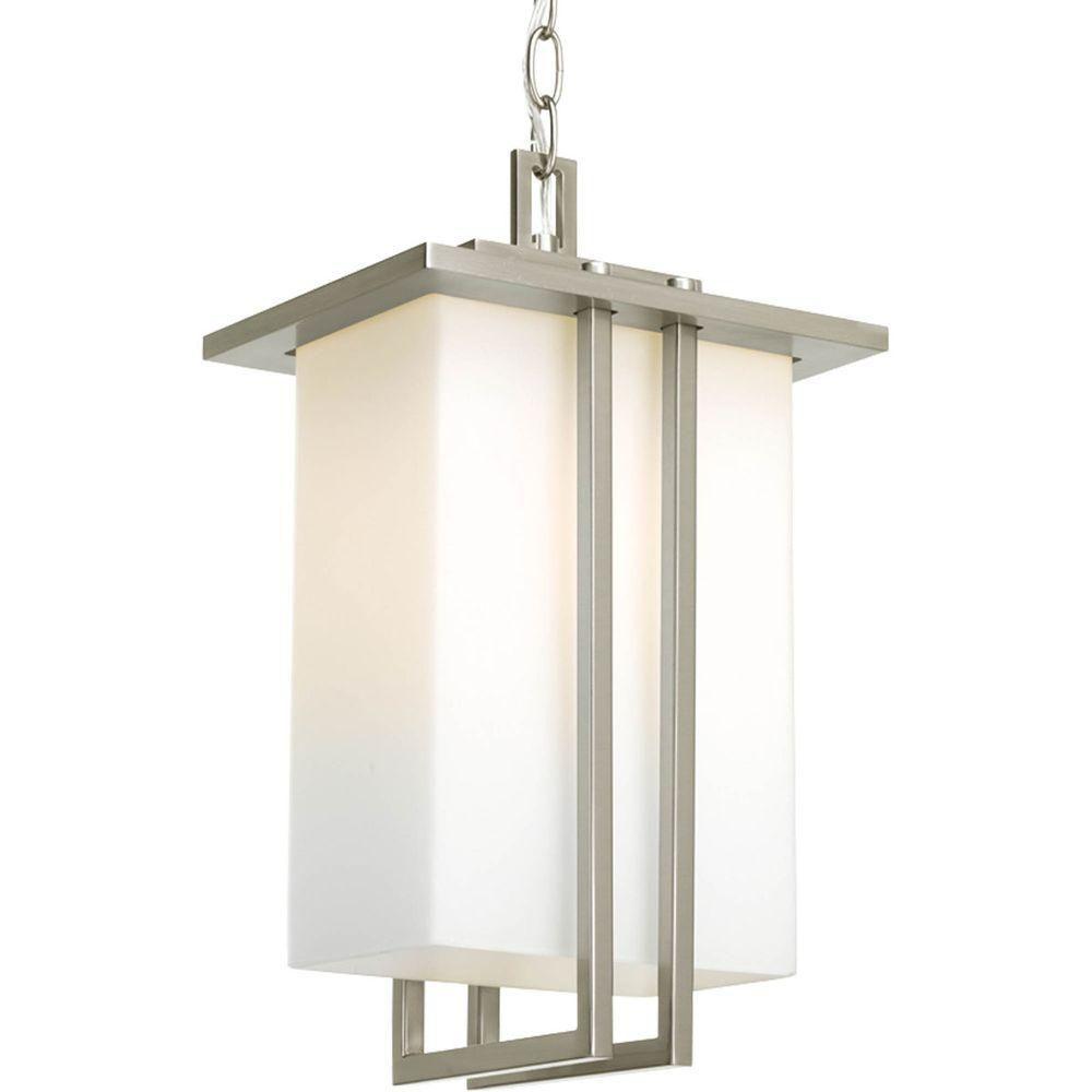 Lanterne suspendue à 1 Lumière, Collection Dibs - fini Nickel Brossé