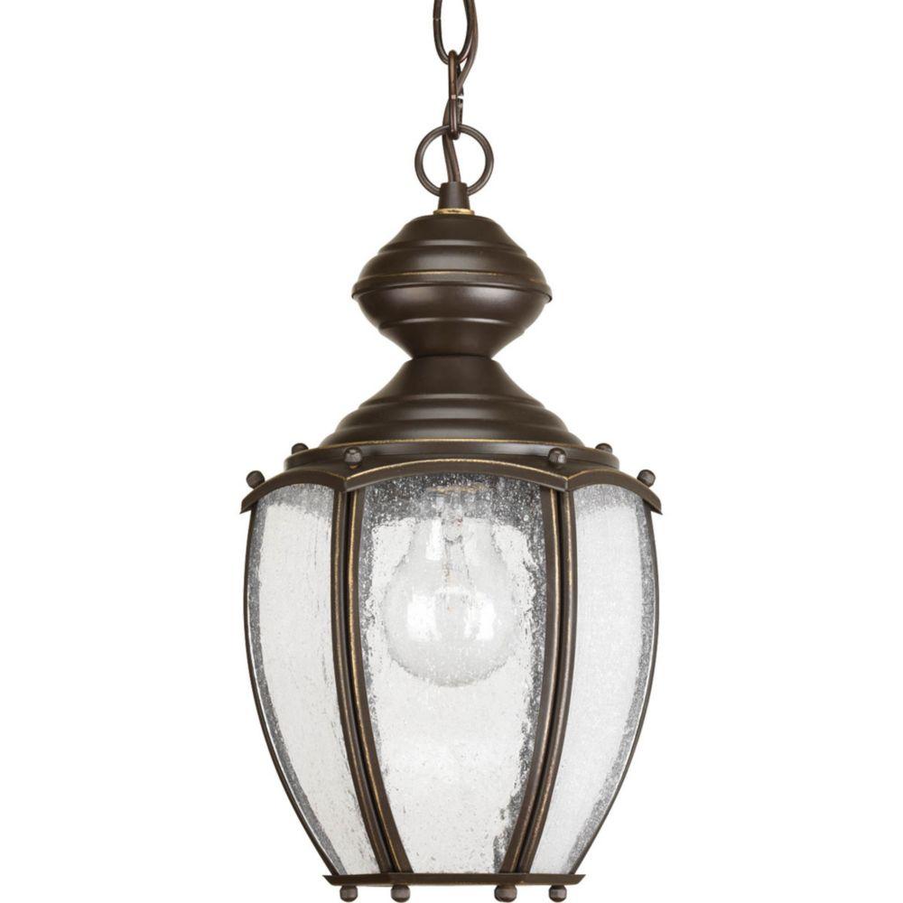 Lanterne suspendue à 1 Lumière, Collection Roman Coach - fini Bronze à l'Ancienne