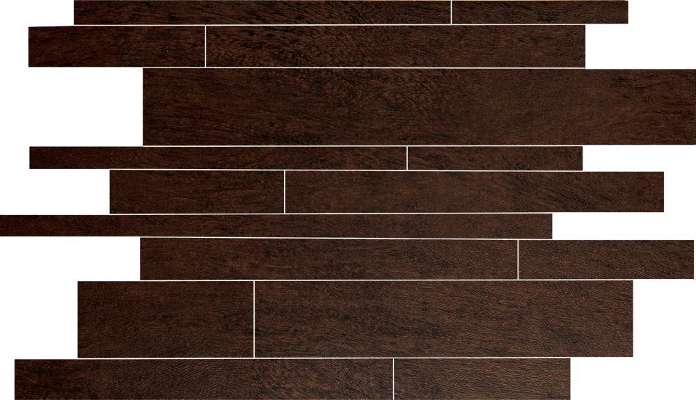 Forest Mobil Ebano Glazed Porcelain Floor & Wall Mosaic Tile (12 In. x 16 In. Sheet)