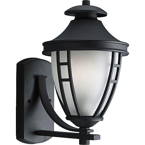 Fluorescente de Lanterne murale à 1 Lumière, Collection Fairview - fini Noir