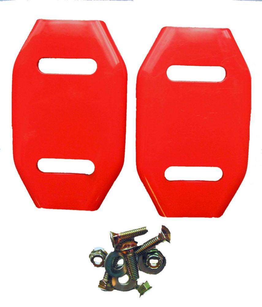 Patins d'acier (emballage de deux) pour souffleuses à neige
