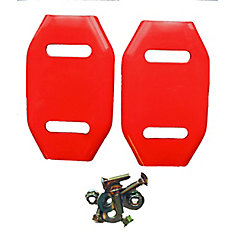 Steel Skid Shoes for Snow Blowers (2-Pack)