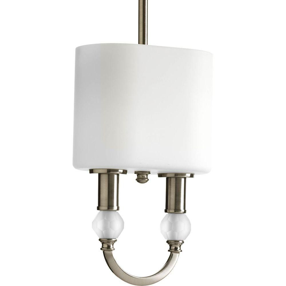 collection 2 light brushed nickel mini pendant the home depot canada. Black Bedroom Furniture Sets. Home Design Ideas