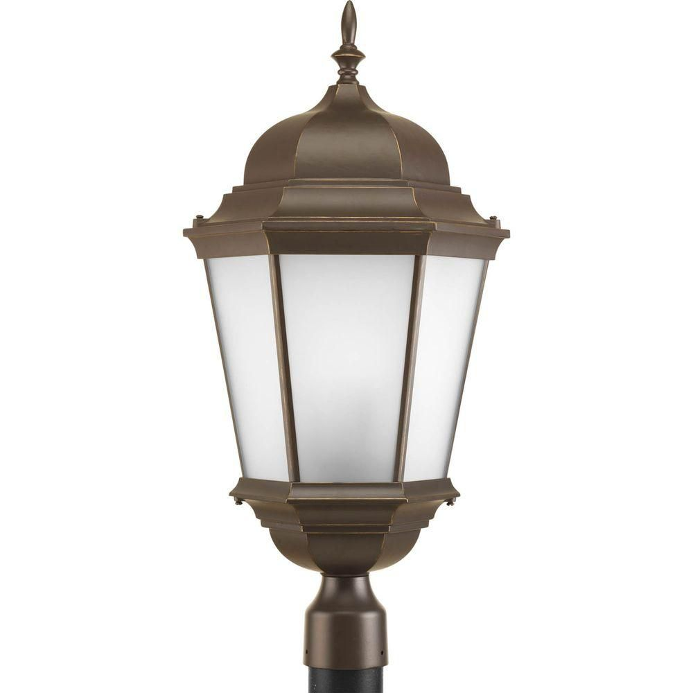 Welbourne Collection 3 Light Antique Bronze Post Lantern
