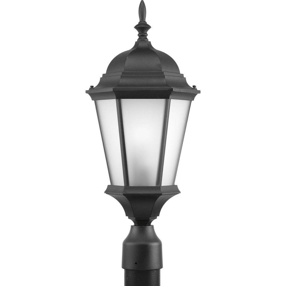 Welbourne Collection 1 Light Black Fluorescent Post Lantern